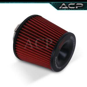 Fits 3 3 Inch Race Performance Red Black Cold Air Intake Cone Filter Universal