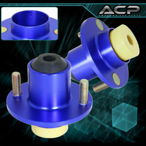 For 88 00 Civic Jdm Racing Blue Suspension Shocks Strut Tower Top Hat Bushings