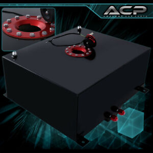 80 Liter 21 Gallon Black Aluminum Fuel Cell Tank With Gauge Sender Red Cap
