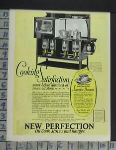 1924 Home Decor Kitchen Perfection Oil Cook Stove Range Oven Vintage Ad Cp17