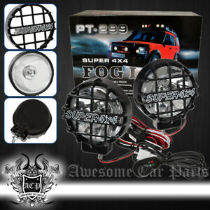 Universal Diy 4x4 Truck Spot Light Driving Off Road Hid Fog Lights With Bulbs