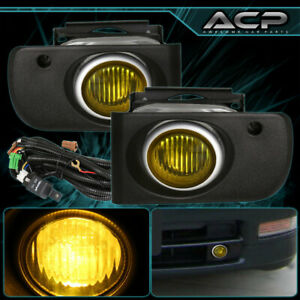 Yellow Fog Lights For Acura 94 95 96 97 Integra Front Driving Assembly Set