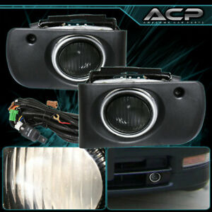 Jdm Front Bumper Smoke Fog Lights Harness Switch For 94 97 Acura Integra