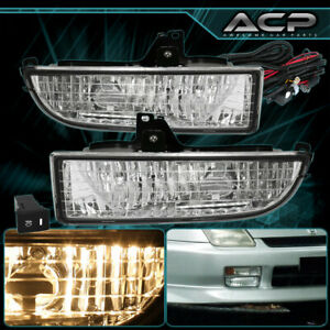 For 1997 2001 Honda Prelude Bb Front Bumper Clear Fog Lamps Lights Assembly