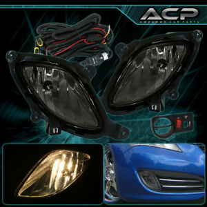 For Hyundai Genesis 2dr 2010 2012 Kdm Coupe Smoked Lens Fog Lights Lamps switch