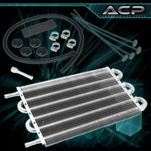 10x7 5x0 75 High Performance Universal Power Steering Tranny Oil Cooler Silver
