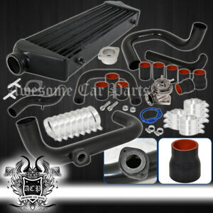 For 92 95 Civic Bolt On Piping Kit Turbo Charger Sport Intercooler Silicone Hose