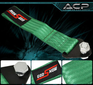 God Snow Auto Car Truck Suv Safety Hauling Tow Rope Front Rear Green For Chevy