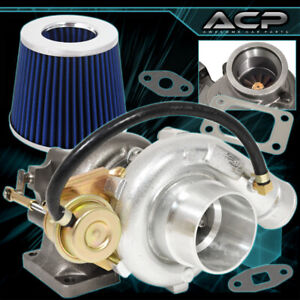 T3 T4 Turbo Flanges V band Outlet Jdm High Performance Flow Air Filter Blue