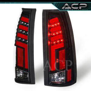 Black Clear Tron Style 3d Red Led Neon Tube Tail Lights Lamps For 88 98 C10