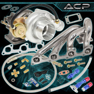 92 95 Volvo 940 T3 T4 Cooled Turbo Manifold Oil Line Kit Boost Controller Blue