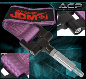 Jdm Sport 4000lbs Screw On Tow Hook Strap Adapter For Genesis Coupe 09 Purple