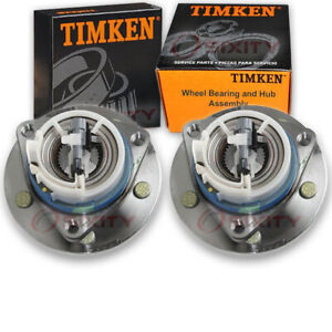 Timken Front Wheel Bearing Hub Assembly For 1996 1999 Oldsmobile Lss Pair Vq