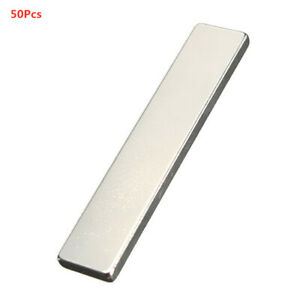 50pcs Super Strong Rare Earth Neodymium Fridge Block Magnet tool Strip 50x10x3mm