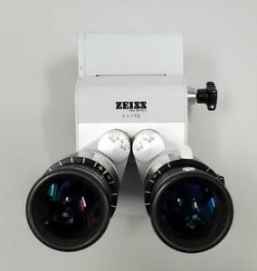 Carl Zeiss F 170 Surgical Microscope Binoculars With 10 X 22b Eye Pieces