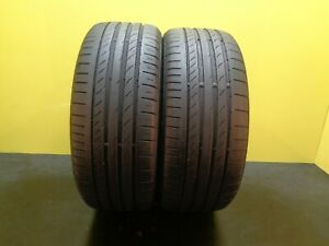 2 Tires Continental Contisportcontact 5 Ssr Rft 225 45 18 91y 60 Life 27407