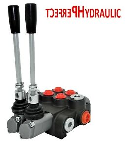 2 Spool Hydraulic Directional Control Valve 11gpm Double Acting 2 Days Delivery
