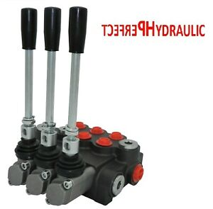 3 Spool Hydraulic Directional Control Valve 11gpm Double Acting 2 Days Delivery