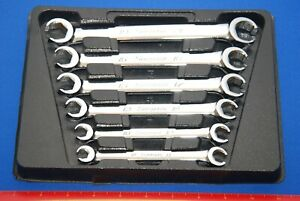 Mint Snap On 6 Piece 6 Point Metric Double End Flare Nut Wrench Set Rxfms606b