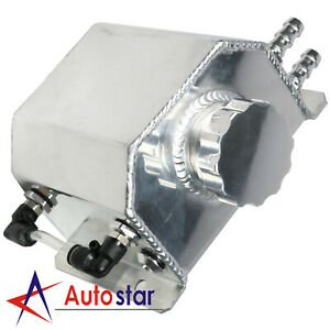Polished Universal Coolant Radiator Overflow Recovery Water Tank Bottle 1l