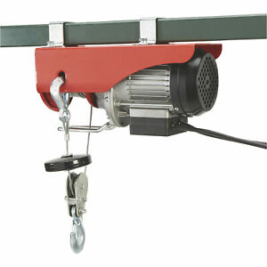 220 Lb 440 Lb Electric Wire Rope Cable Hoist Lifting Pulley And Sheaves 510 W