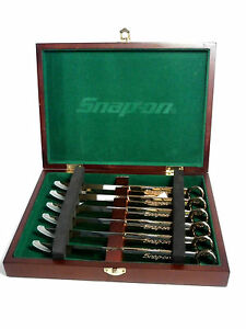 Snap On Box Wrench 6 Piece Steak Knife Set In Collectors Box Gold Color Ssx2815