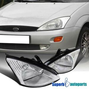 For 2000 2004 Ford Focus Assembly Headlights Lamps Pair Left right