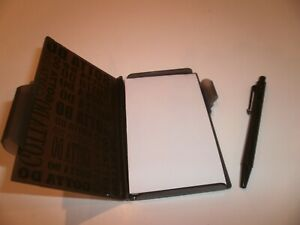Small Pocket Notebook Memo Pad Holder And Pen Blackz