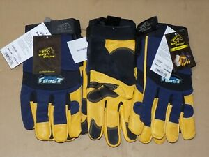 Black Stallion Thinsulate Lined Winter Work Gloves 2x Large 3 Pair