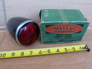 Vintage Ford Bullet Ruby Red Glass Tail Light In Box Unused Ford Rat Hot Rod
