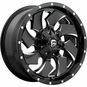 4 20x10 Black Milled Cleaver 6x135 6x5 5 18 Rims Terra Grappler G2 Tires