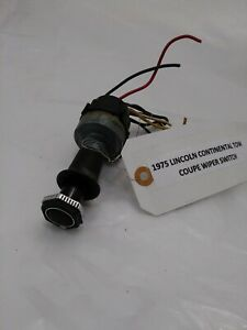 Oem 1975 Lincoln Continental Town Coupe 2 Speed Wiper Switch