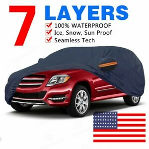 Full Car Cover Waterproof Outdoor Indoor All Weather Protection Breathable Suv