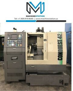 Hardinge Conquest 42 Cnc Turn Mill Center Lathe W live Tool C Axis