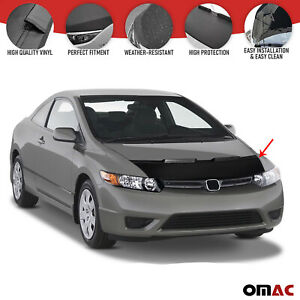 Carbon Look Hood Cover Mask Vinyl Bonnet Bra Protector For Honda Civic 2006 2012