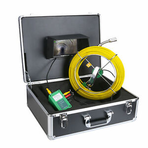 Us 9 Lcd 30m Sewer Waterproof Camera Pipe Pipeline Drain Inspection System New