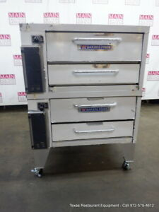 Bakers Pride 252 Gas Double Deck Pizza Oven Deck 36 With Stone Legs