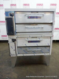 Bakers Pride 152 Gas Double Deck Pizza Oven Deck With Stone Legs
