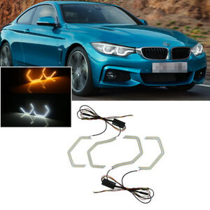 Switchback M4 Iconic Led Angel Eye Kit W relay Wirings For Bmw 2 3 4 5 M Series