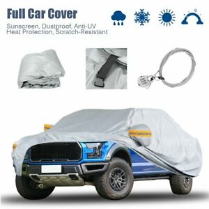 19ft Waterproof Truck Pickup Full Car Cover W Anti Theft Lock Fit Ford F 150