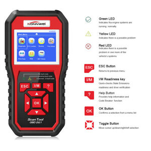 Engine Check Fault Obd2 Code Reader Auto Car Diagnostic Tools Battery Tester Us