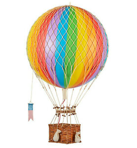 Rainbow Striped 13 Hot Air Balloon Model Aviation Ceiling Hanging Home Decor