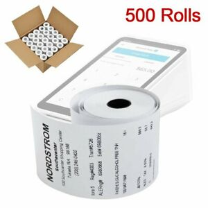 2 1 4 X 50 Thermal Receipt Paper For Credit Card Cash Register Pos Machine