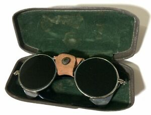 Welding Vintage Safety Steampunk Glasses Gl H5 On Lenses Metal Case Defects