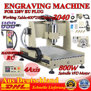 Usb 4axis 3040 Cnc Engraver Machine Router Engraving Cutting Wood 800w handwheel