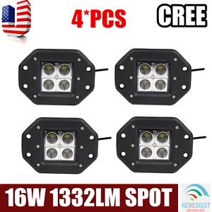 4x 5 16w Square Led Work Light Spot Beam Offroad Driving Light Fog Light Atv