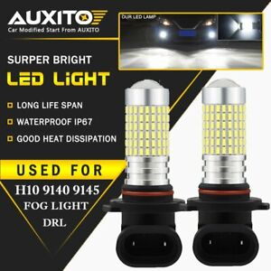 Auxito H10 9145 6000k Super Bright White Led Fog Driving Light Bulb Hid For Ram
