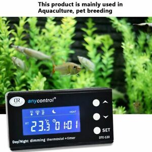 Thermostat Temperature Controller Aquarium Plug Socket Thermometer Regulator New