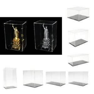 Clear Acrylic Display Case Perspex Box Plastic Base Dustproof For Figure Model