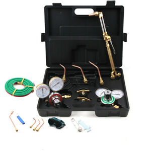 Gas Welding Cutting Kit Oxy Acetylene Oxygen Safe Practical Torch Brazing Fits